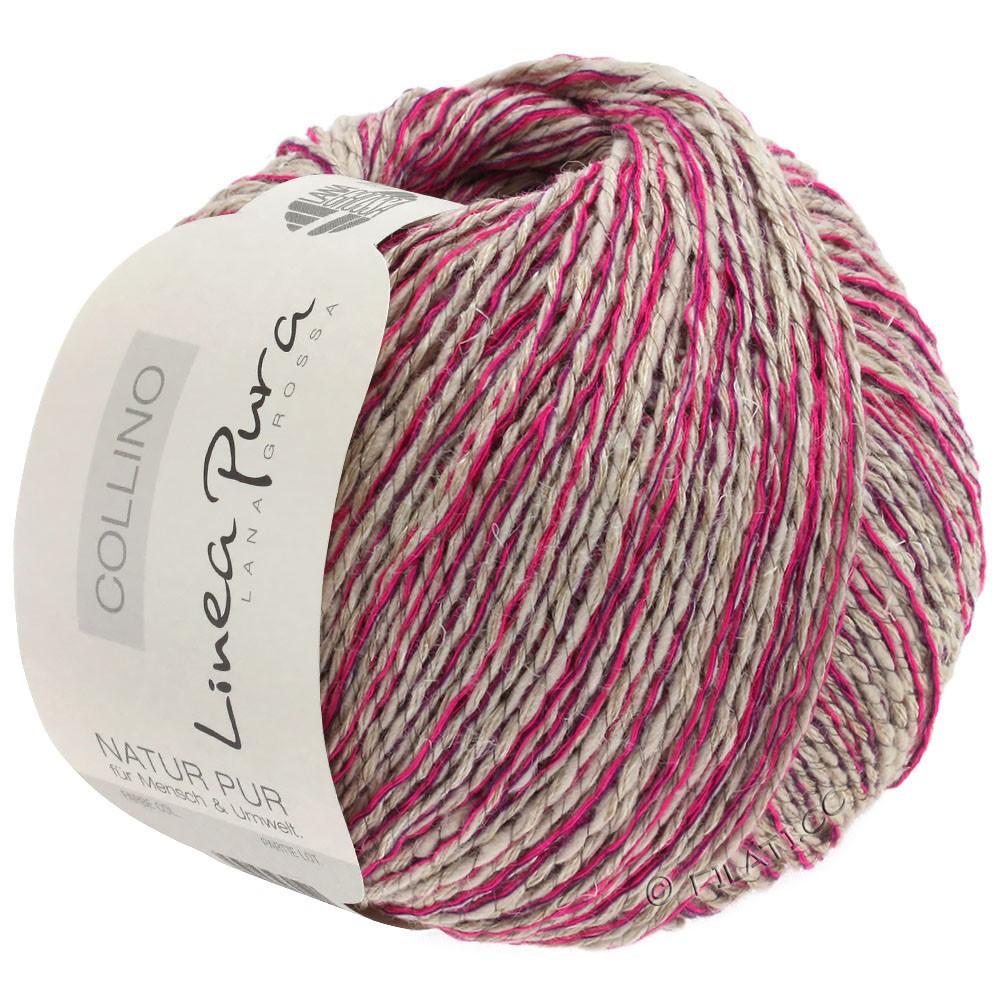 Lana Grossa COLLINO (Linea Pura)   06-лён/цикламеновый/тёмно-фиолетовый
