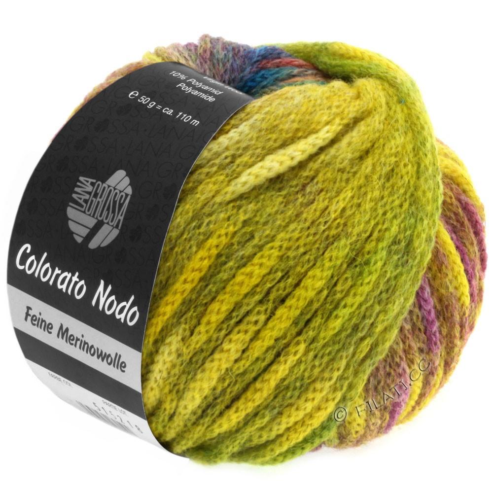 Lana Grossa COLORATO NODO | 101-жёлтый/зелёный/ягодный/светло-зелёный/синий/пихта