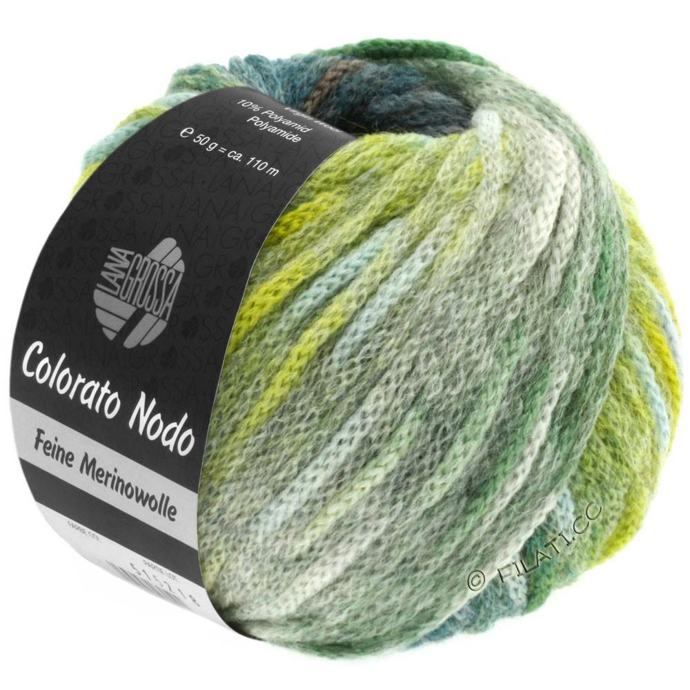 Lana Grossa COLORATO NODO | 108-серо-зеленый/петроль/жёлто-зеленый/тростник
