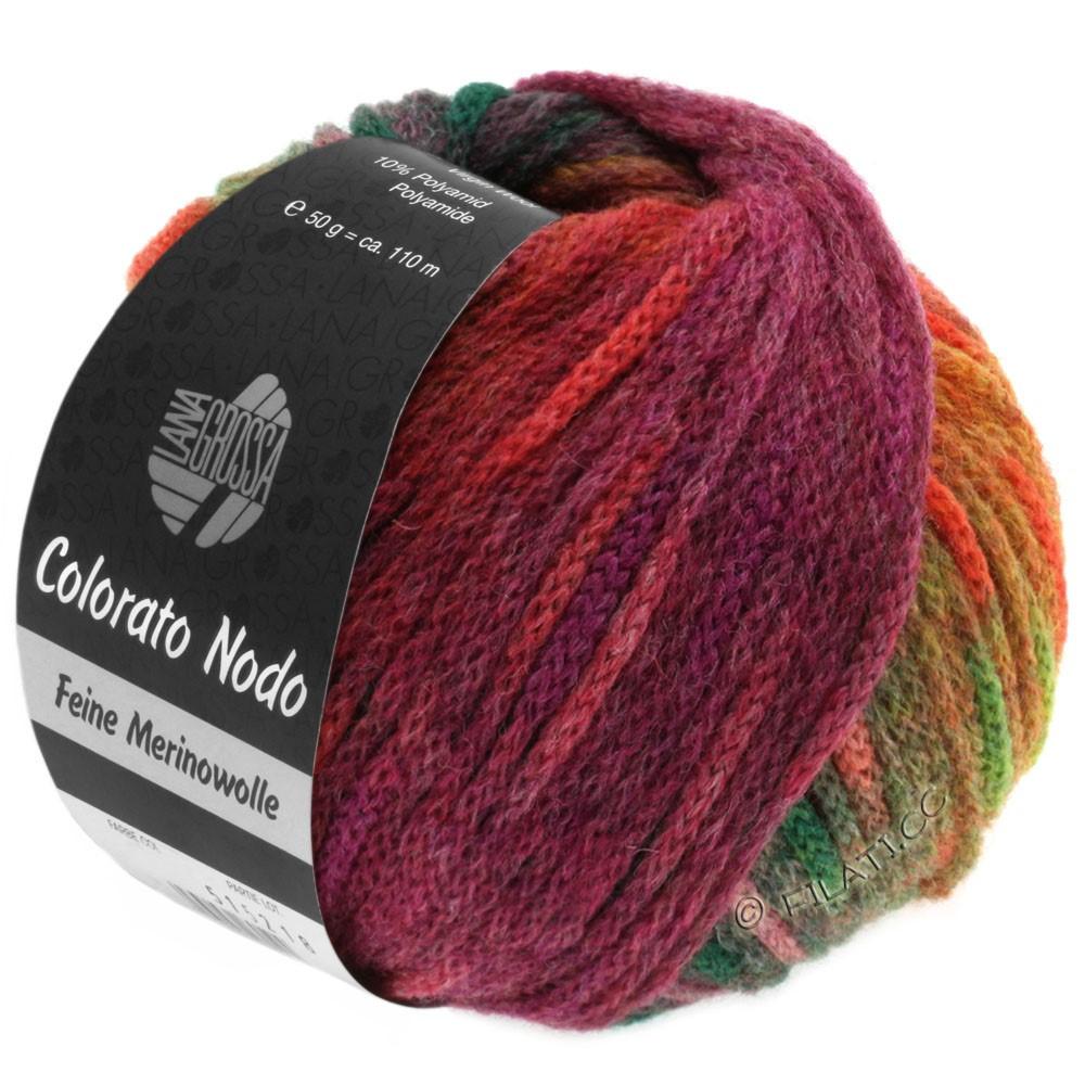 Lana Grossa COLORATO NODO | 110-цвет ржавчины/ягодный/серо-зеленый/красная фиалка/сирень/светло-коричневый