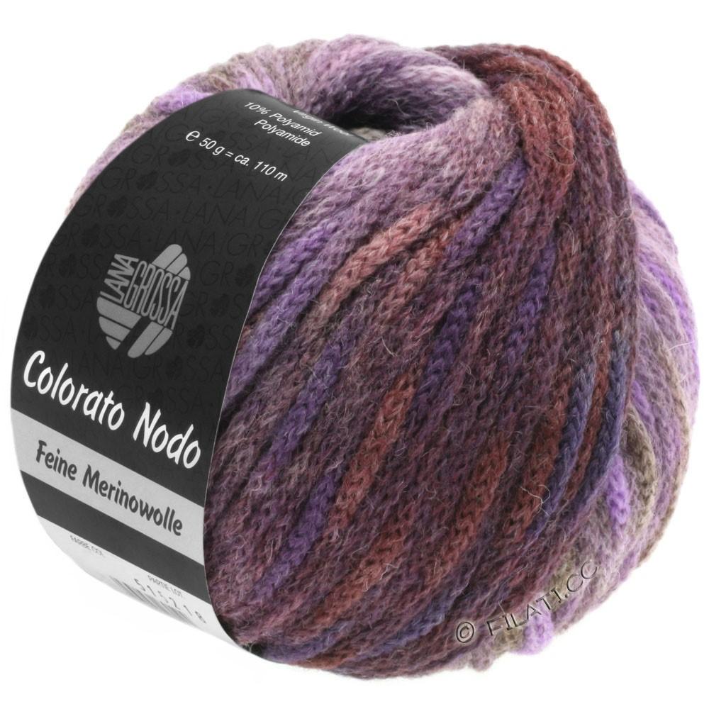 Lana Grossa COLORATO NODO | 115-ежевика/пурпурный/серо-коричневый/серо-голубой/антрацитовый