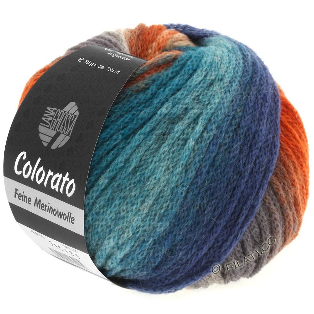 Lana Grossa COLORATO | 002-светло-голубой/джинс/серо-синий/светло-серый/тёмно-серый