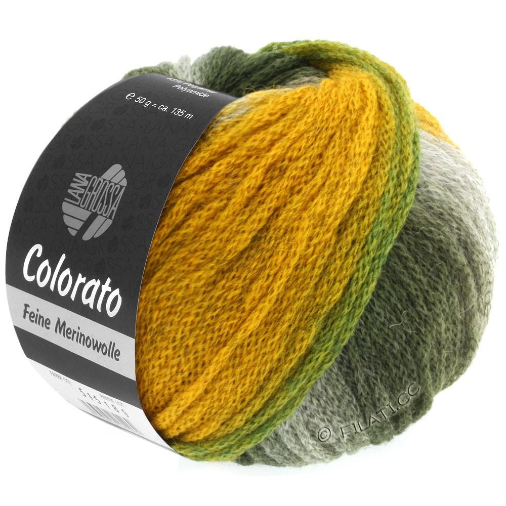 Lana Grossa COLORATO | 003-ярко-зелёный/серо-зеленый/петроль/мята