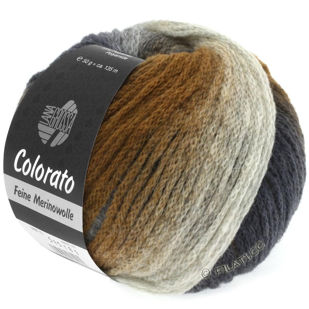 Lana Grossa COLORATO | 005-серо- бежевый/светло-коричневый/средне-коричневый/тёмно-коричневый/чёрно-коричневый