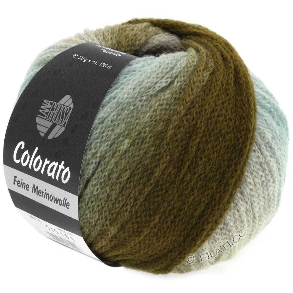 Lana Grossa COLORATO | 006-мята/хаки/кофе мокко/чёрно-коричневый