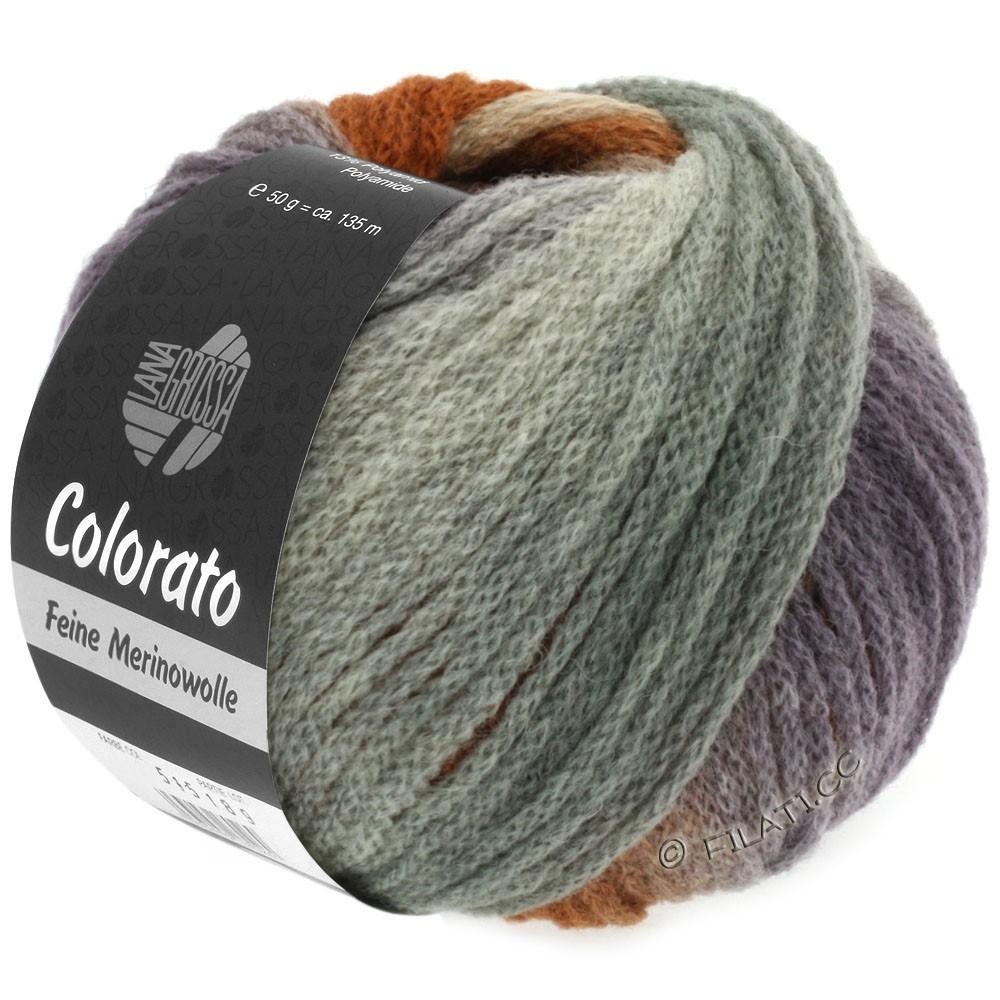 Lana Grossa COLORATO | 007-светло-серый/тёмно-серый/розовый/легко коричневый/серо-коричневый