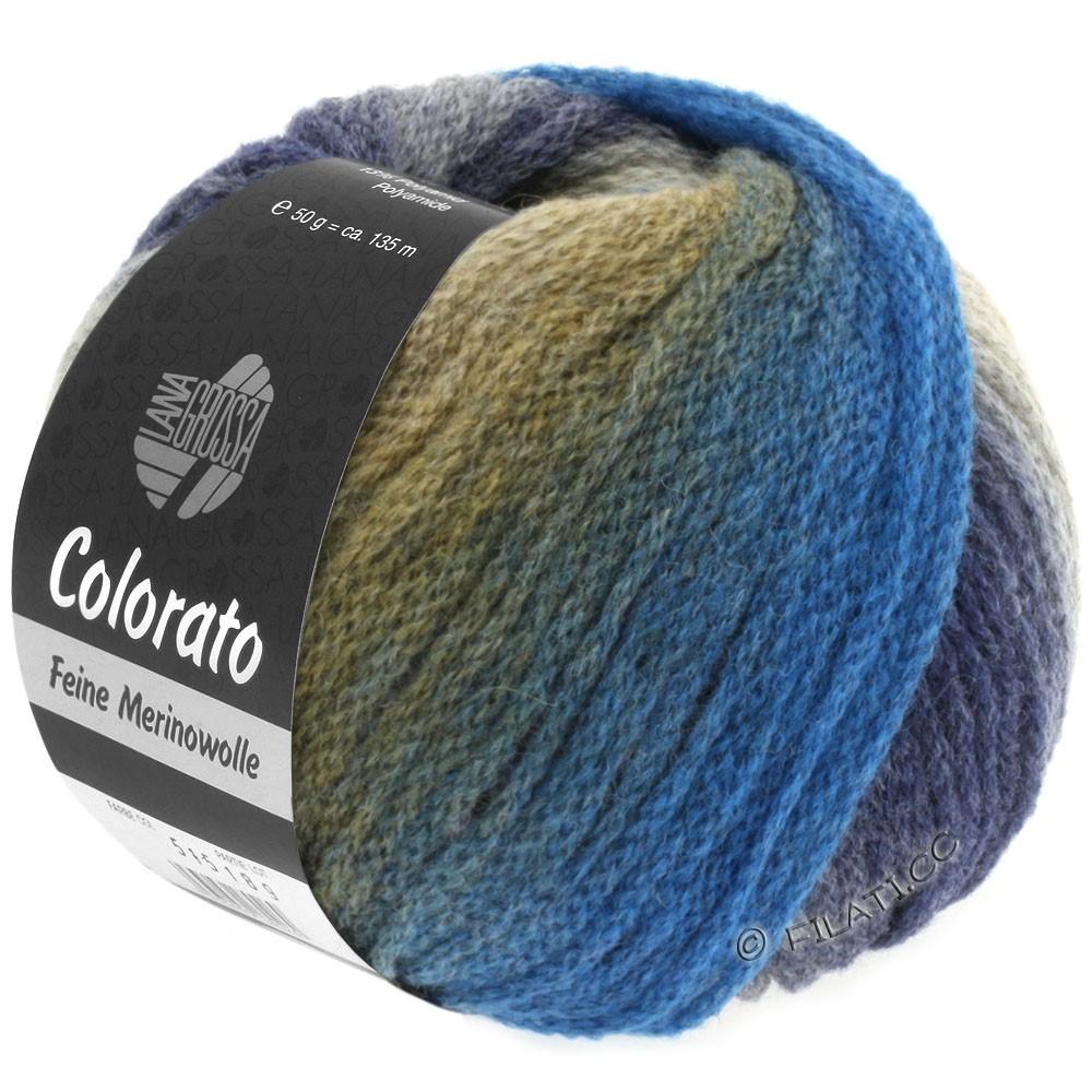 Lana Grossa COLORATO | 009-серо- бежевый/коричневый/синий/ягодный/сирень