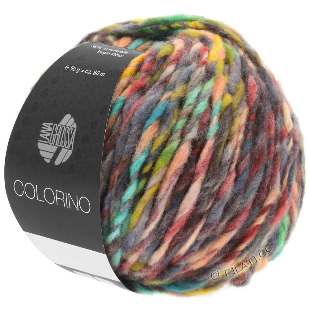 Lana Grossa COLORINO | 01-красный/зелёный/серый/бежевый/антрацитовый