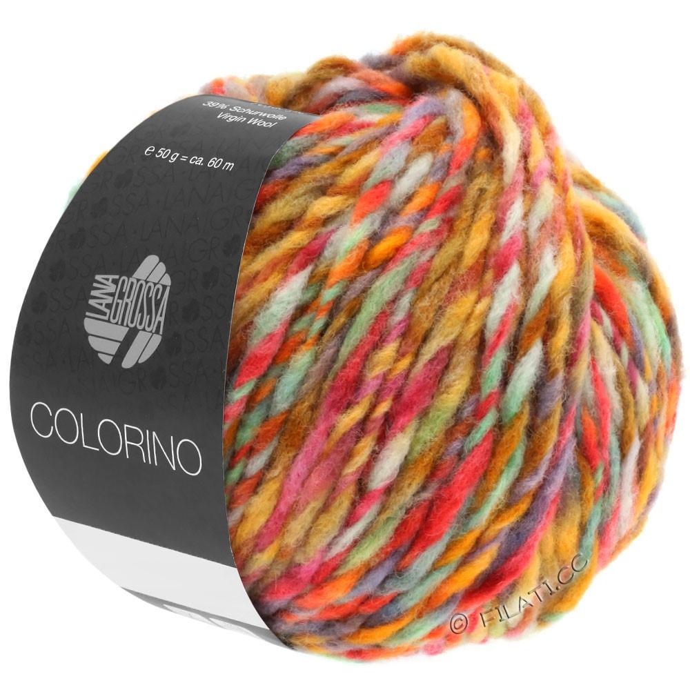 Lana Grossa COLORINO | 02-петроль/светло-зелёный/синий/коричневый
