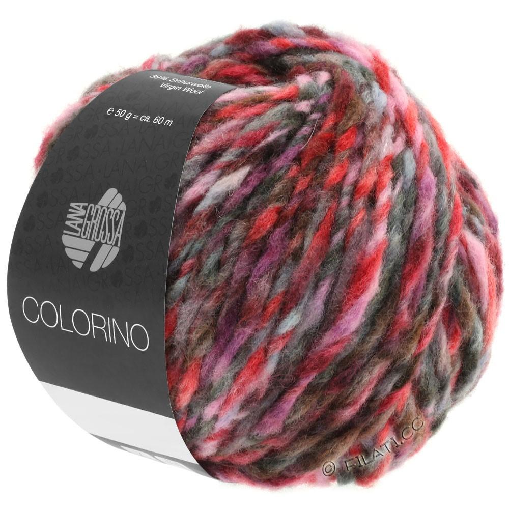Lana Grossa COLORINO | 03-красный/розовый/серый/бургунд/антрацитовый
