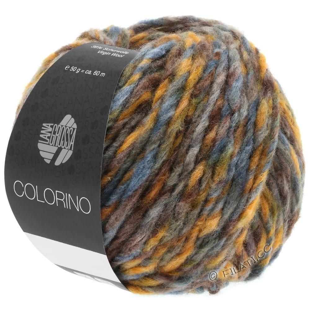 Lana Grossa COLORINO | 05-коричневый/охра/серо-синий/серо-зеленый