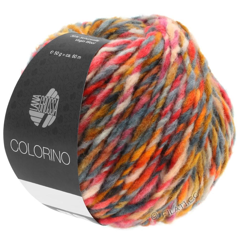 Lana Grossa COLORINO | 06-оранжевый/легко коричневый/тёмно-коричневый/серый