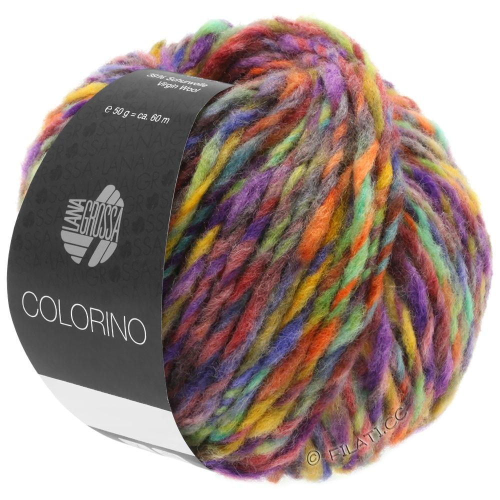 Lana Grossa COLORINO | 09-красная фиалка/сине-фиолетовый/петроль/охра/тёмно-коричневый