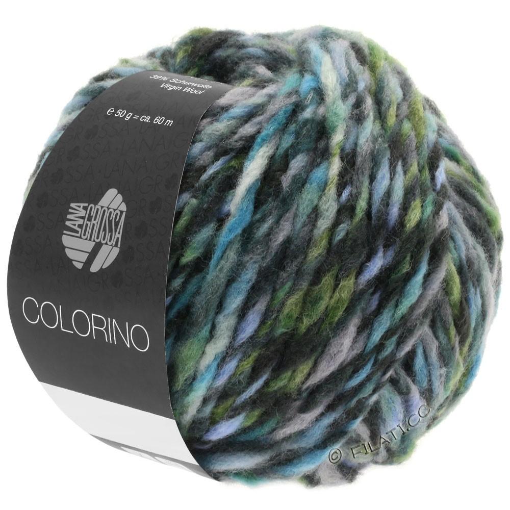 Lana Grossa COLORINO | 10-серый/антрацитовый/светло-голубой/серо-зеленый