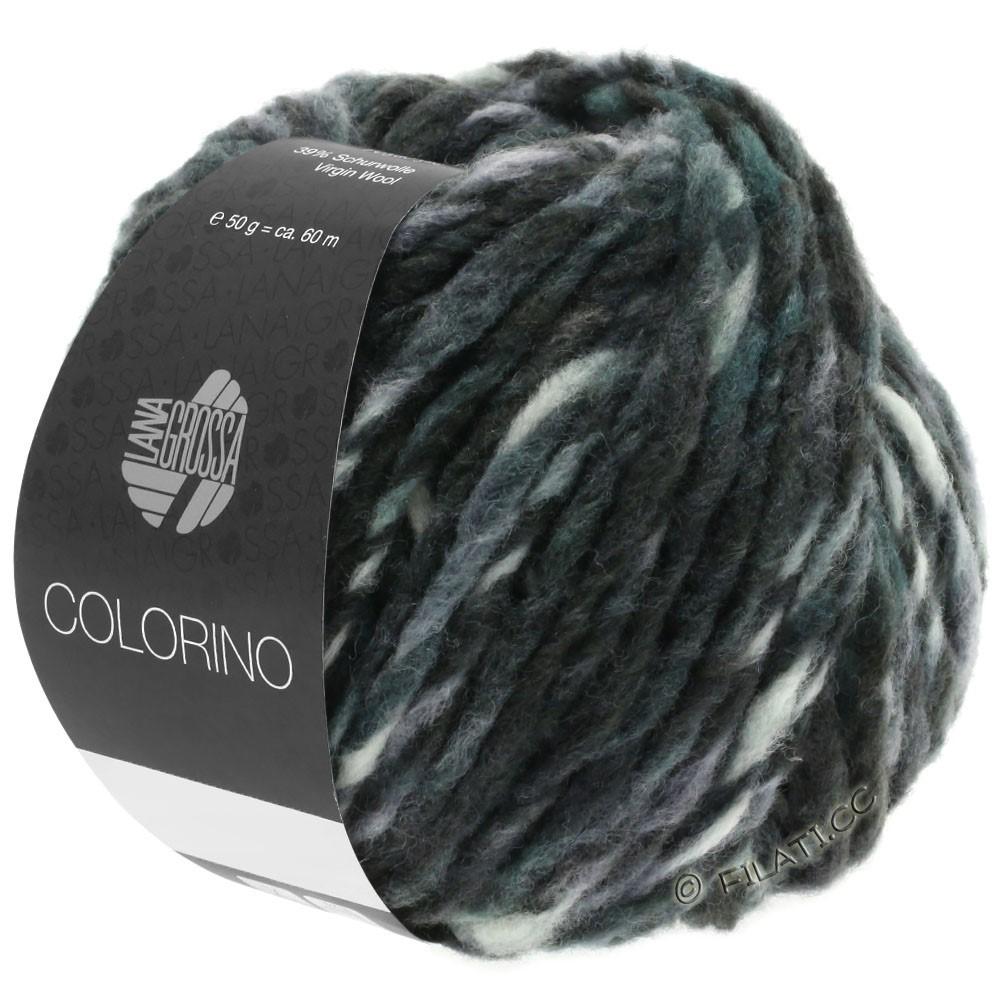 Lana Grossa COLORINO | 11-антрацитовый/зеленый серый/грязь/тёмно сине-зеленый