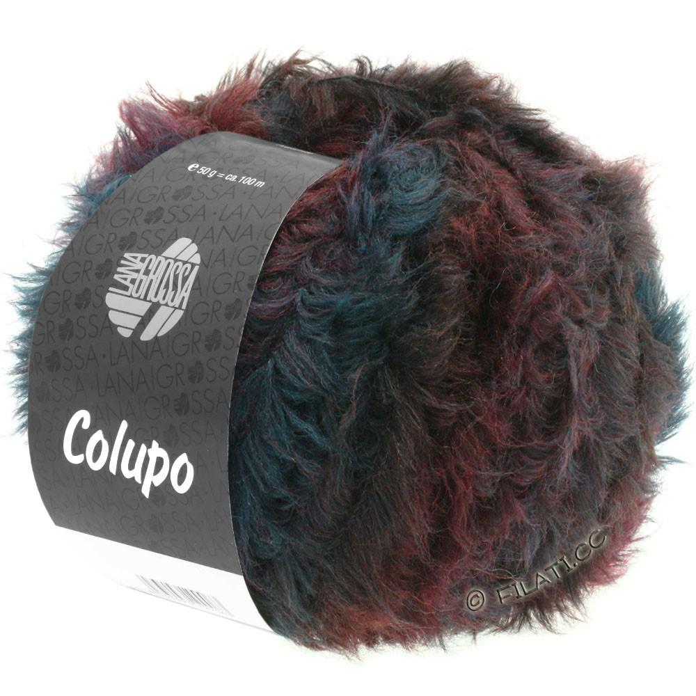 Lana Grossa COLUPO | 02-бургунд/антрацитовый