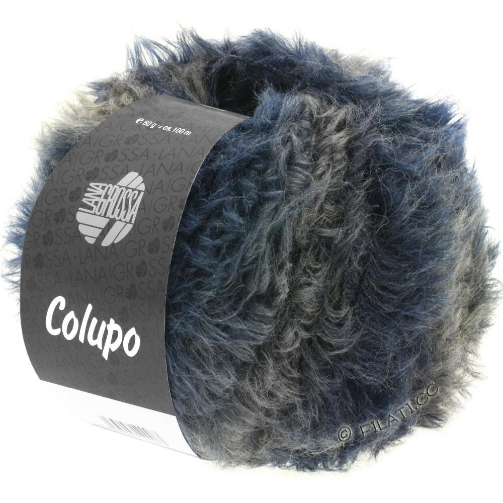 Lana Grossa COLUPO | 03-тёмно-синий/чёрно-синий