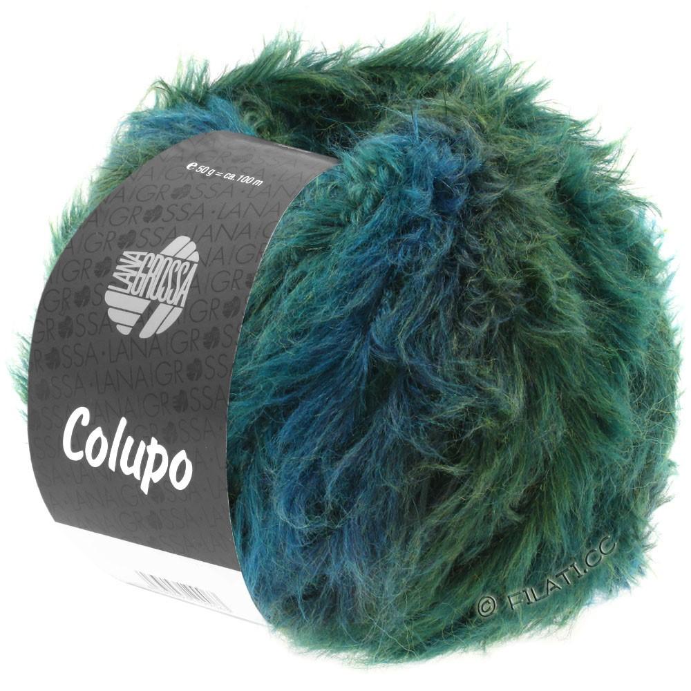 Lana Grossa COLUPO | 09-петроль/зелёный