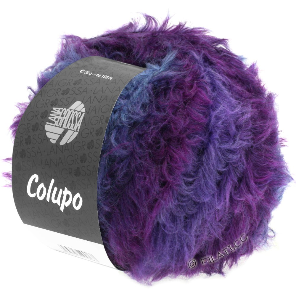 Lana Grossa COLUPO | 11-тёмно-серый/фиолетовый