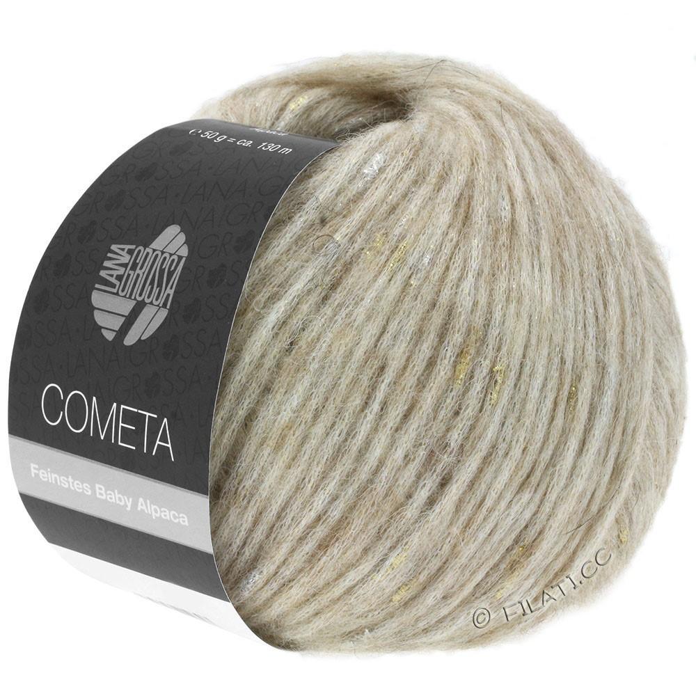 Lana Grossa COMETA | 002-бежевый/золотой/серебряный