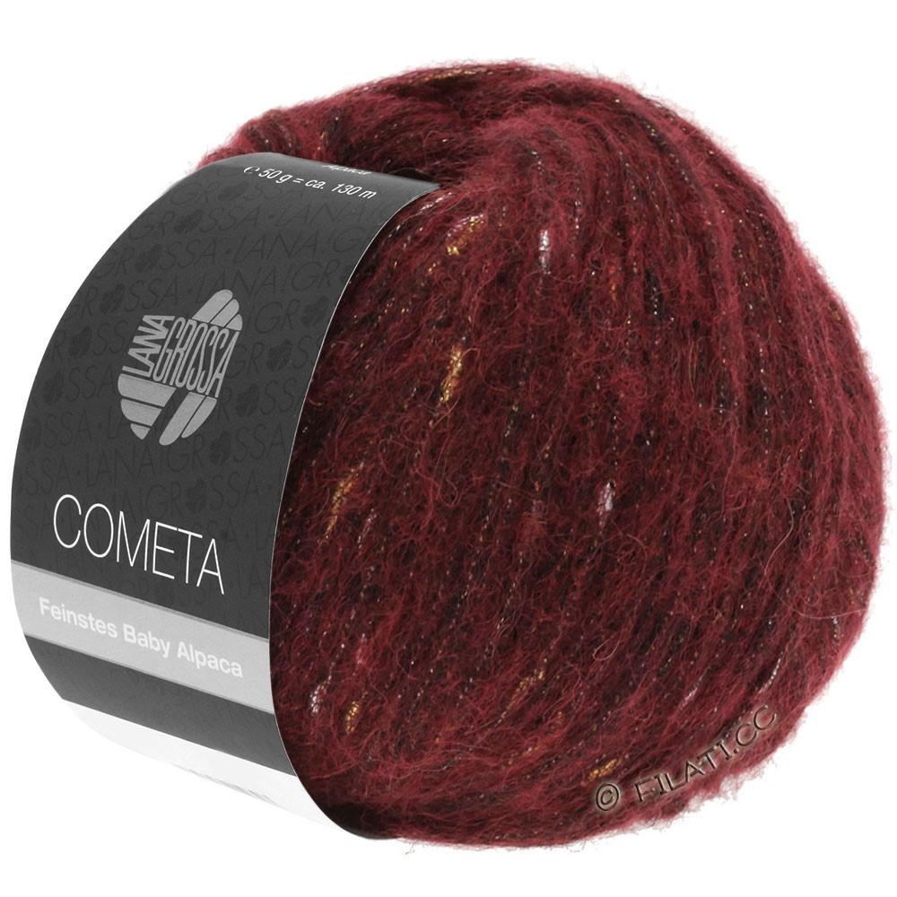 Lana Grossa COMETA | 005-тёмно-красный/золотой/серебряный