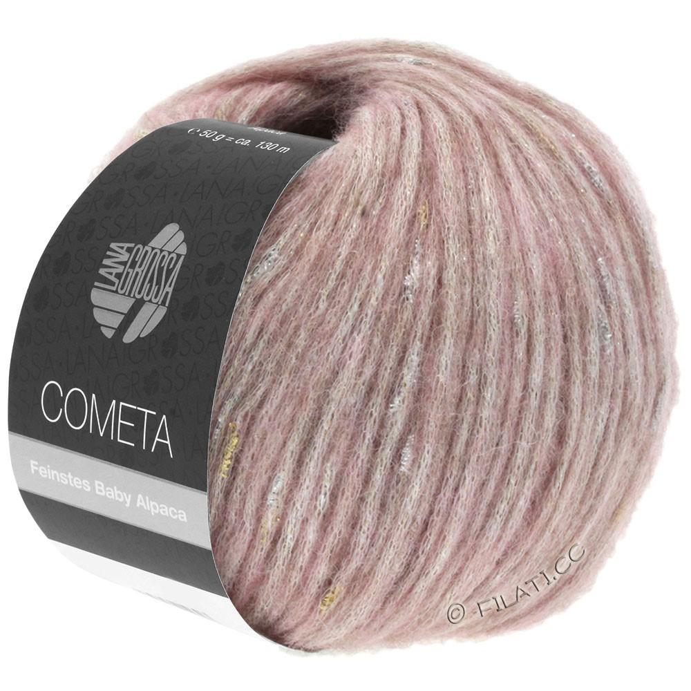 Lana Grossa COMETA | 007-розовый/золотой/серебряный