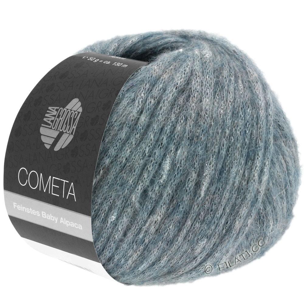 Lana Grossa COMETA | 010-серо-синий/серебряный
