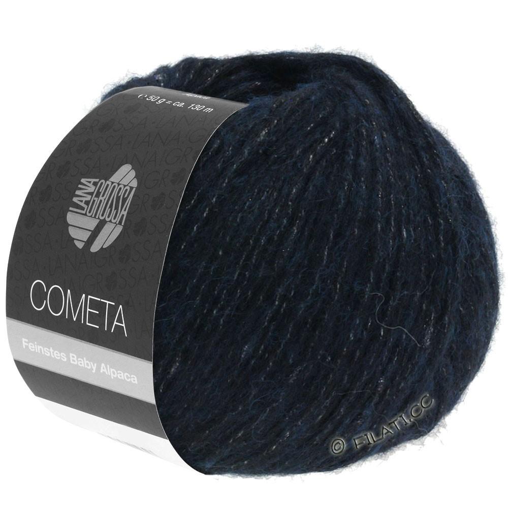 Lana Grossa COMETA | 011-тёмно-синий /серебряный