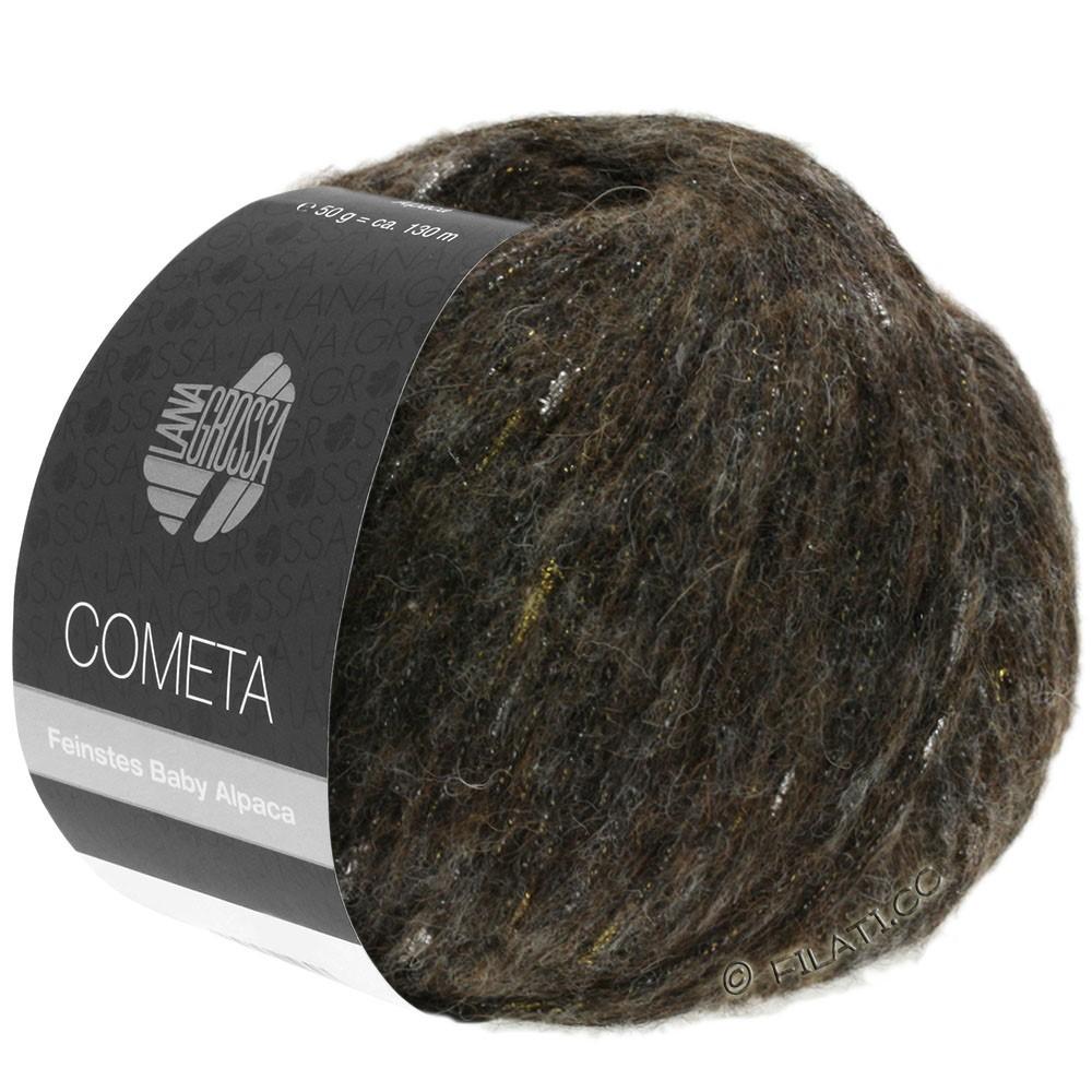 Lana Grossa COMETA | 012-чёрно-коричневый/золотой/серебряный