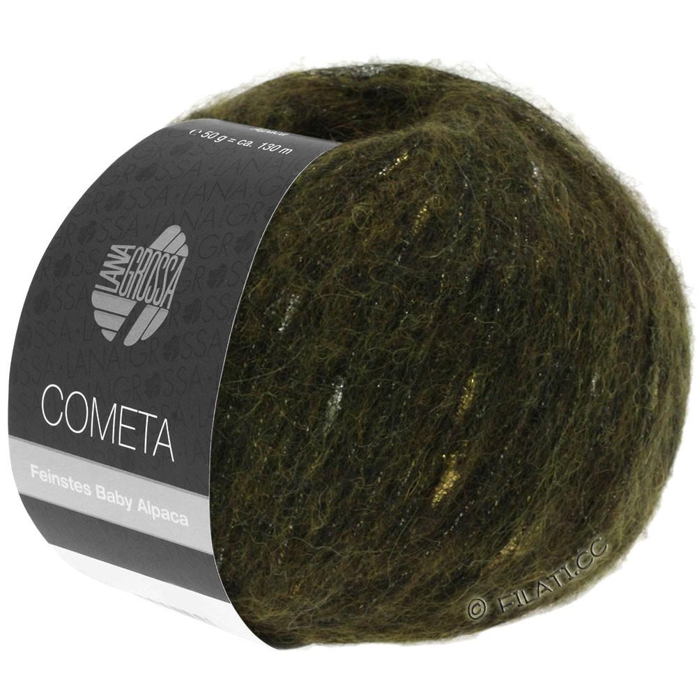 Lana Grossa COMETA | 013-хаки/золотой/серебряный