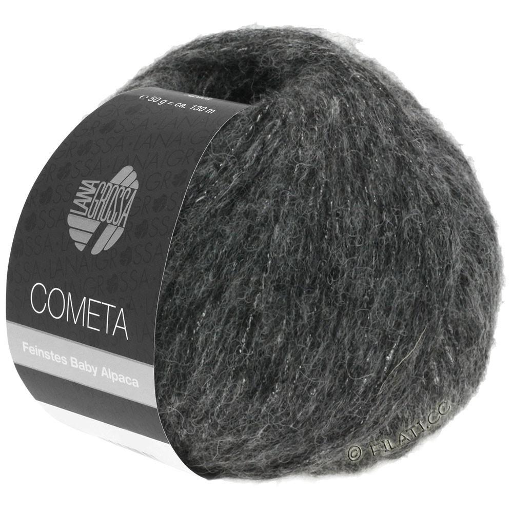 Lana Grossa COMETA | 014-тёмно-серый/серебряный