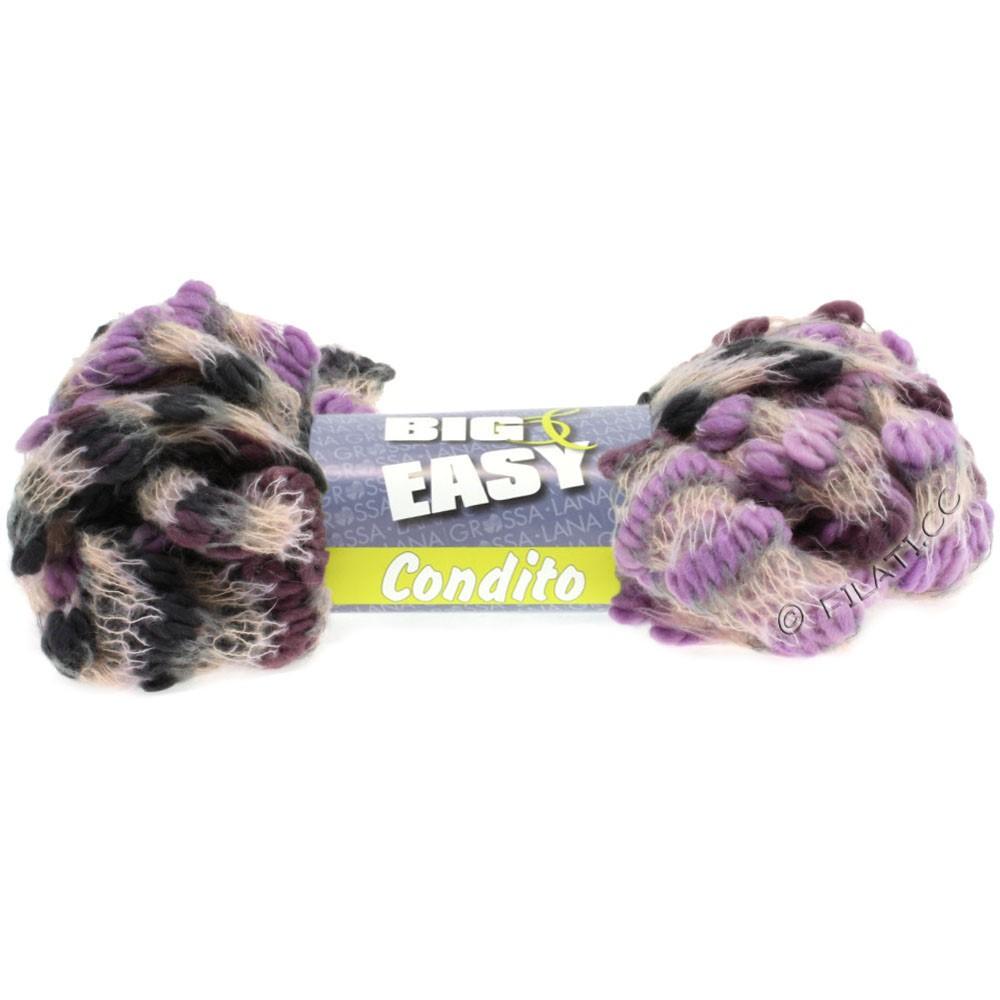 Lana Grossa CONDITO 150g (Big & Easy) | 06-сирень/розовое дерево/жемчуг/светло-серый/тёмно-серый