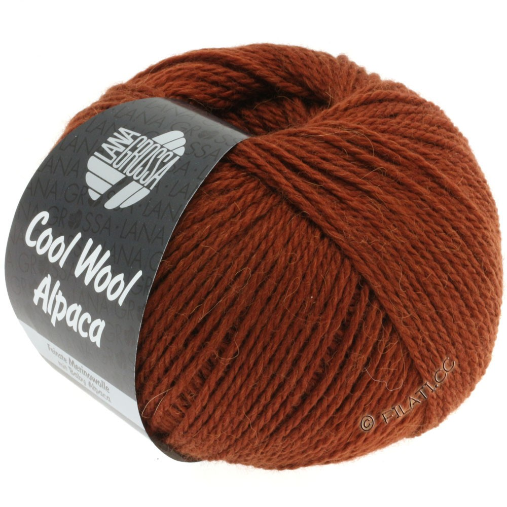 Lana Grossa COOL WOOL Alpaca | 02-коричневый