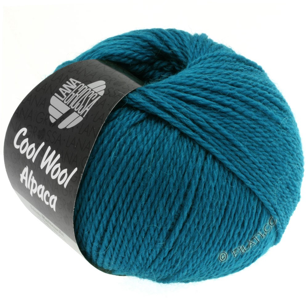 Lana Grossa COOL WOOL Alpaca | 09-петроль синий