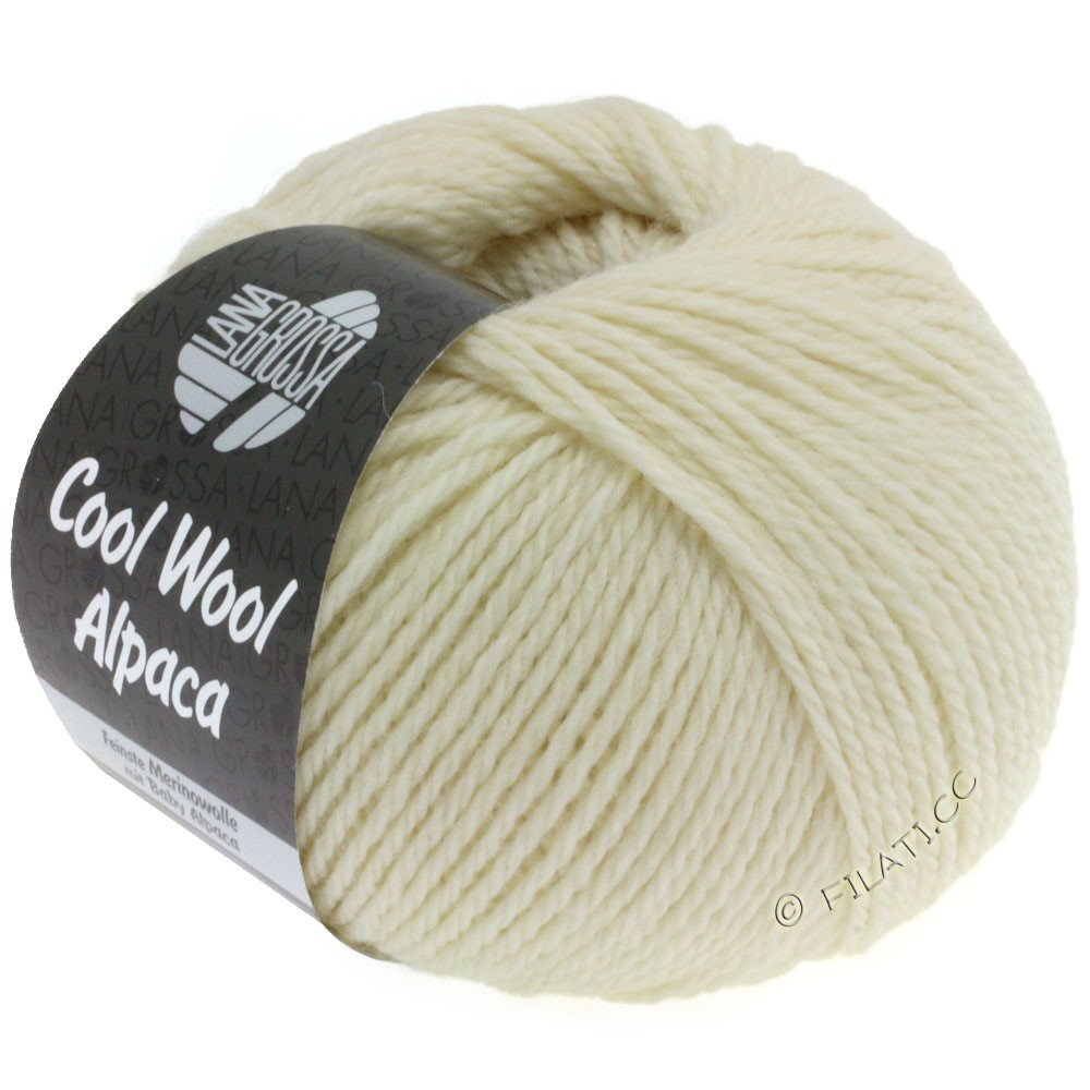 Lana Grossa COOL WOOL Alpaca | 13-чисто-белый