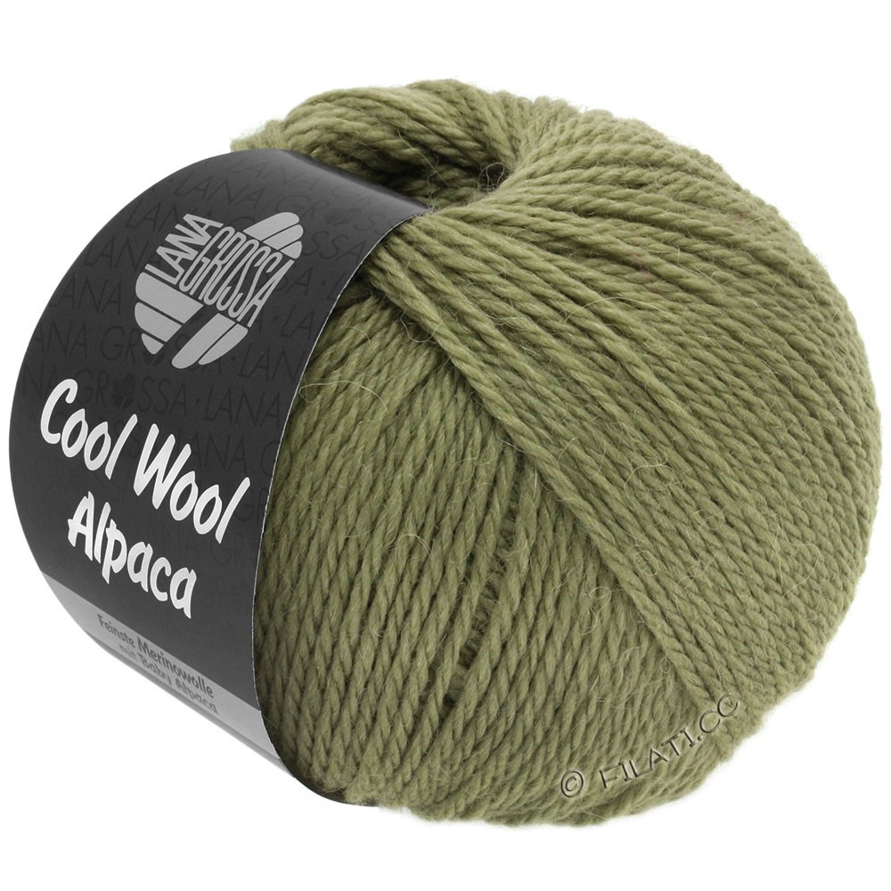 Lana Grossa COOL WOOL Alpaca | 29-зеленый сено