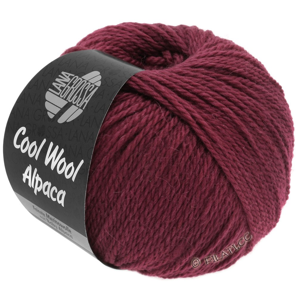 Lana Grossa COOL WOOL Alpaca | 30-бордо