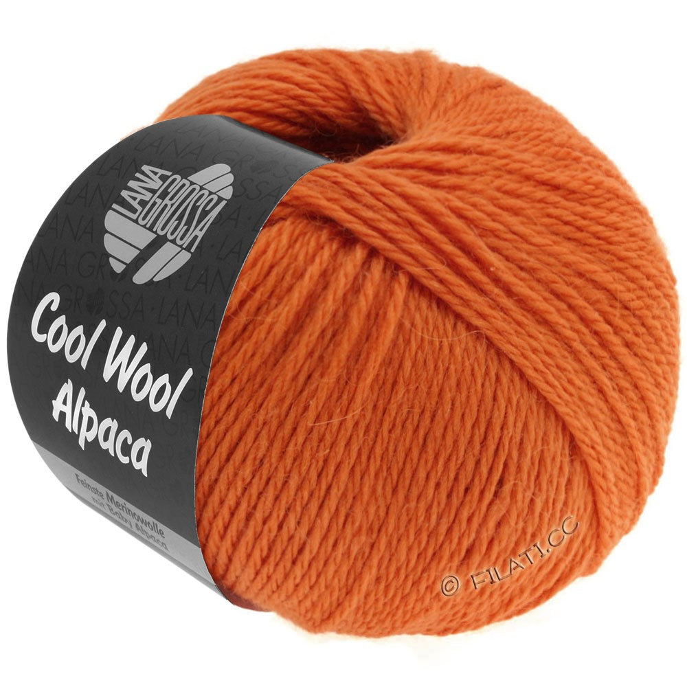 Lana Grossa COOL WOOL Alpaca | 31-оранжевый