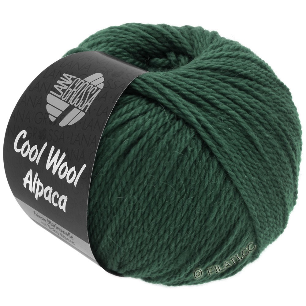 Lana Grossa COOL WOOL Alpaca | 34-тёмно-зелёный