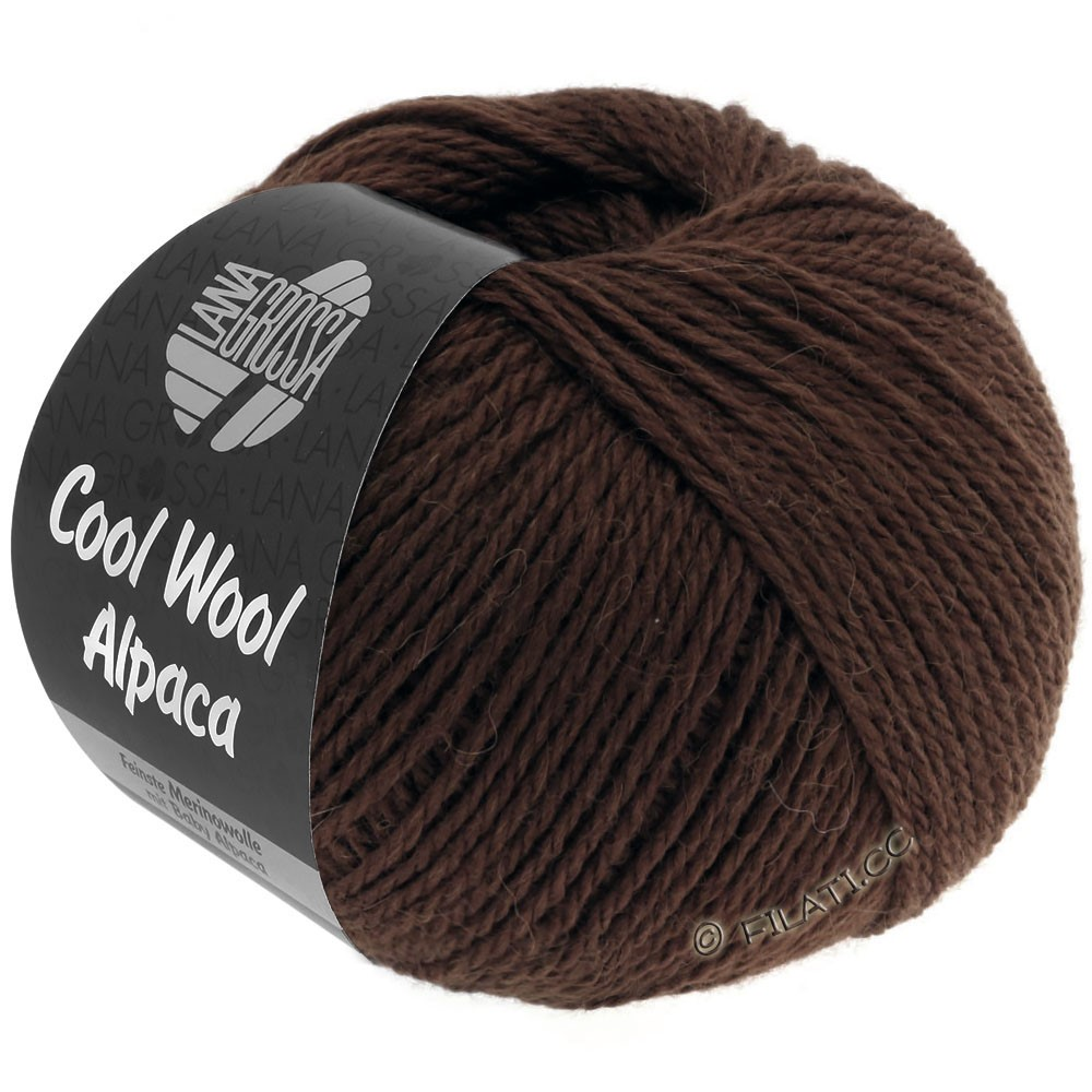 Lana Grossa COOL WOOL Alpaca | 35-кофе мокко