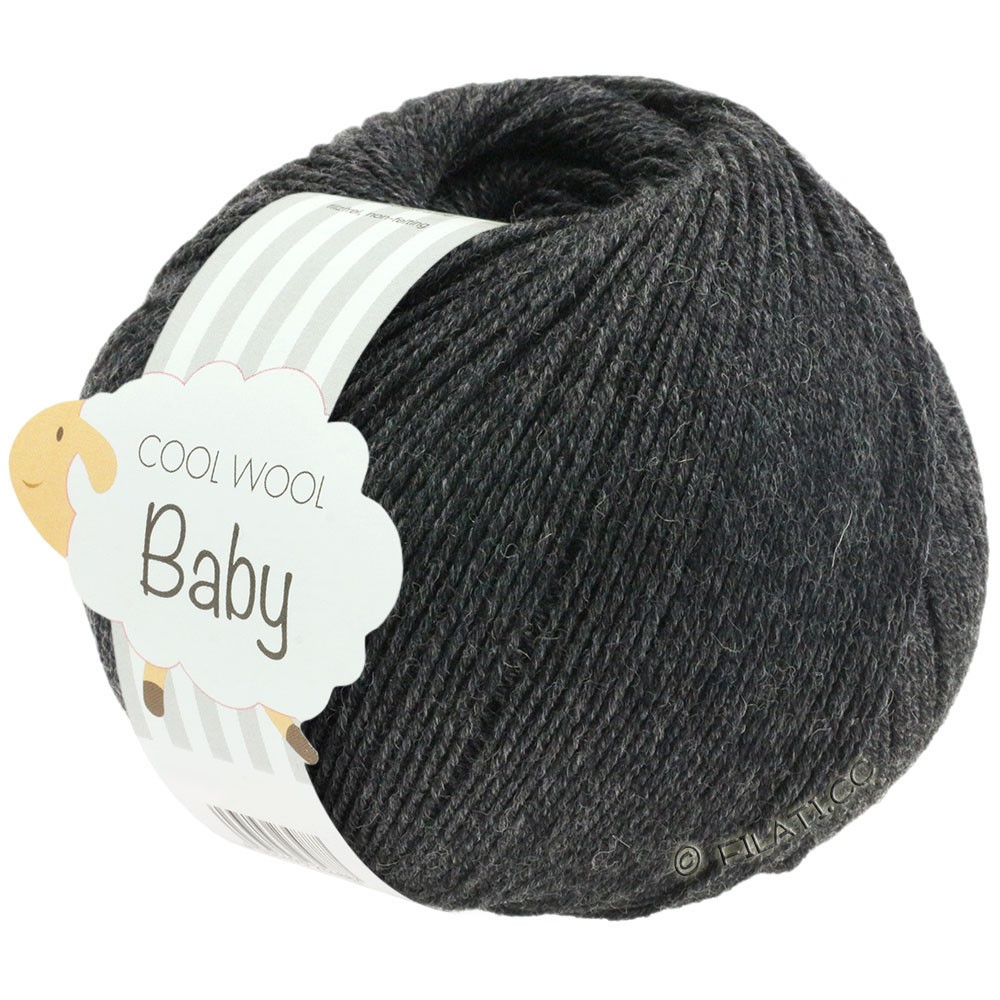 Lana Grossa COOL WOOL Baby Uni/Degradé | 205-антрацитовый