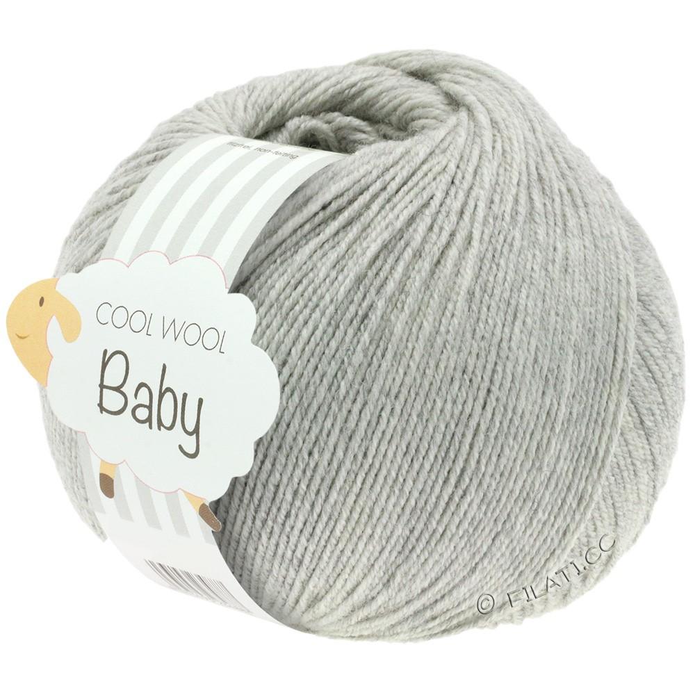 Lana Grossa COOL WOOL Baby Uni/Degradé | 206-светло-серый смешанный