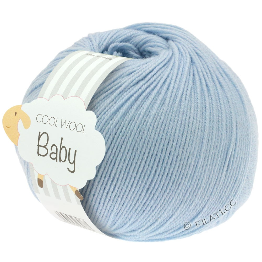 Lana Grossa COOL WOOL Baby Uni/Degradé | 208-светло-голубой