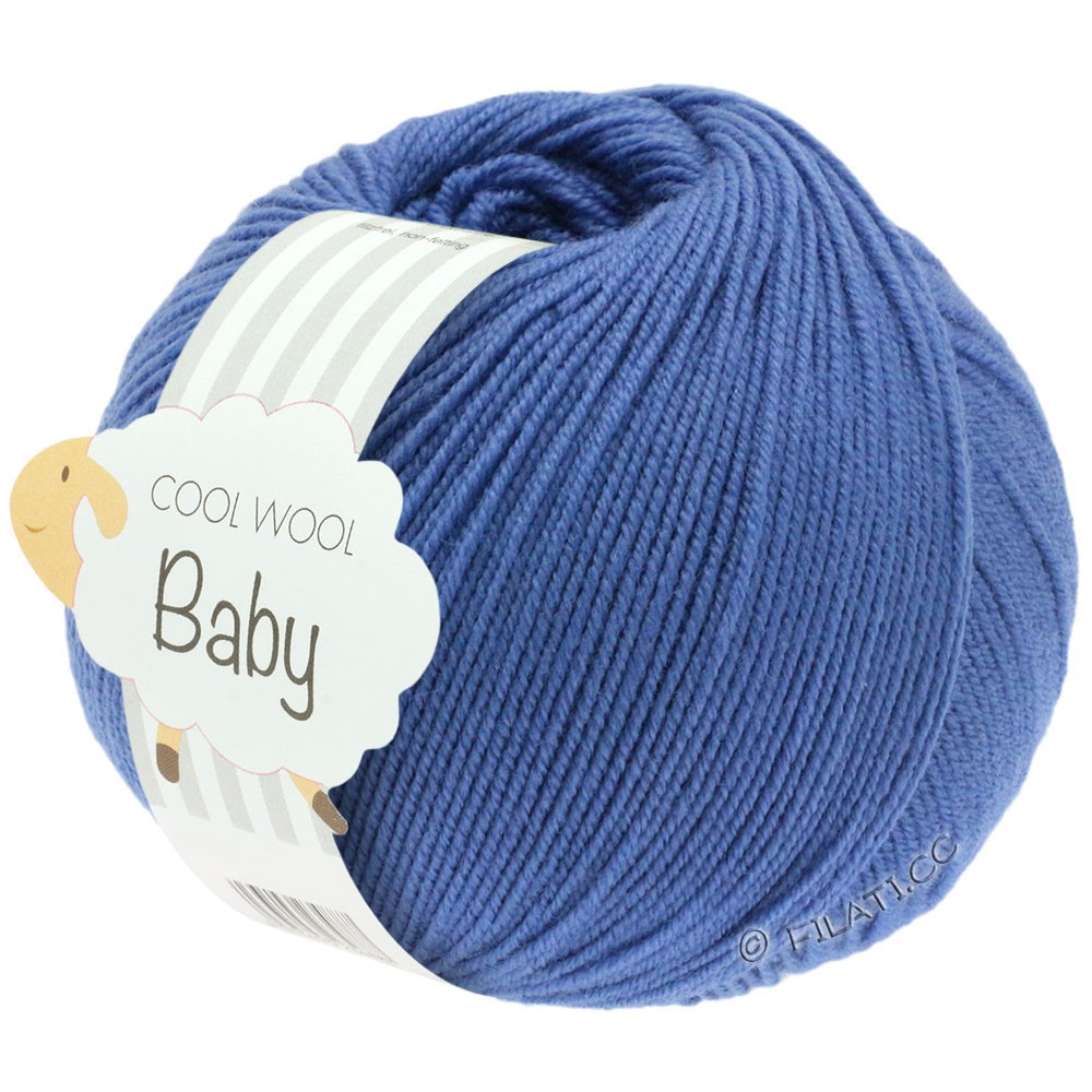 Lana Grossa COOL WOOL Baby Uni/Degradé | 209-синий