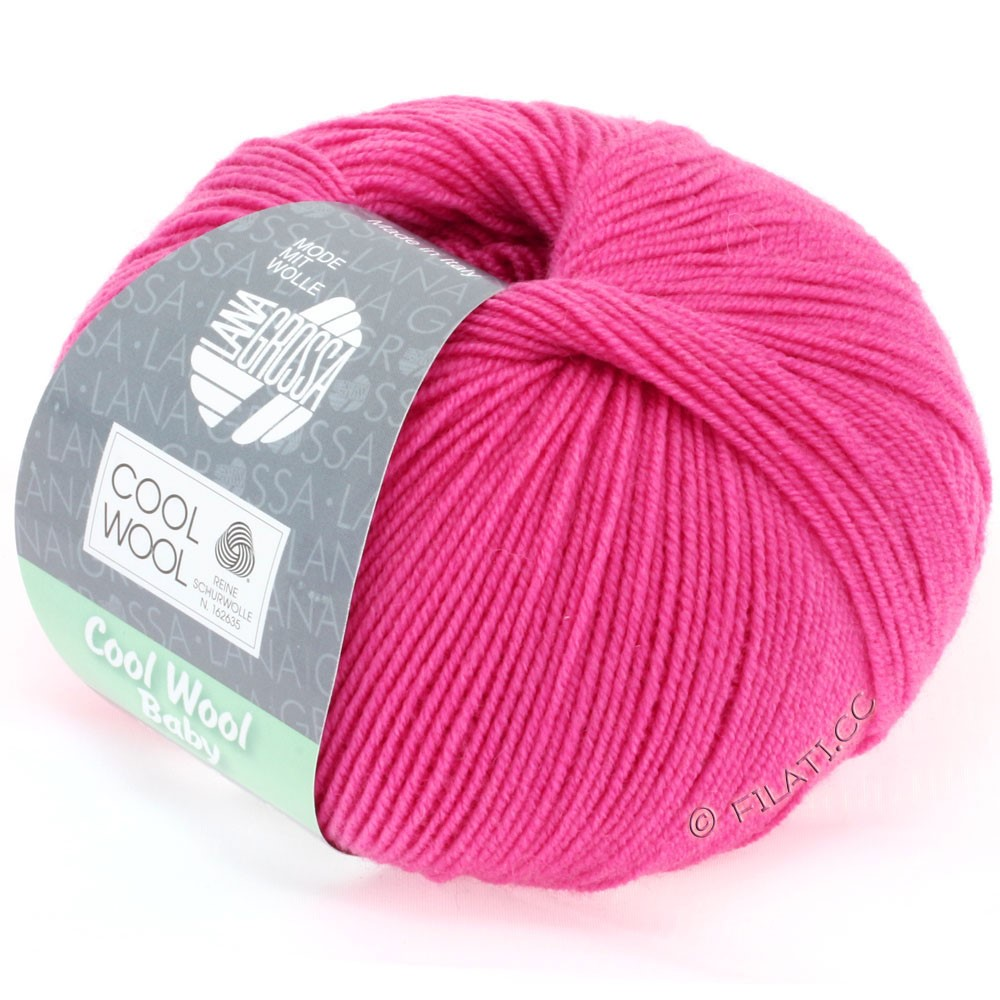Lana Grossa COOL WOOL Baby Uni/Degradé | 225-пинк