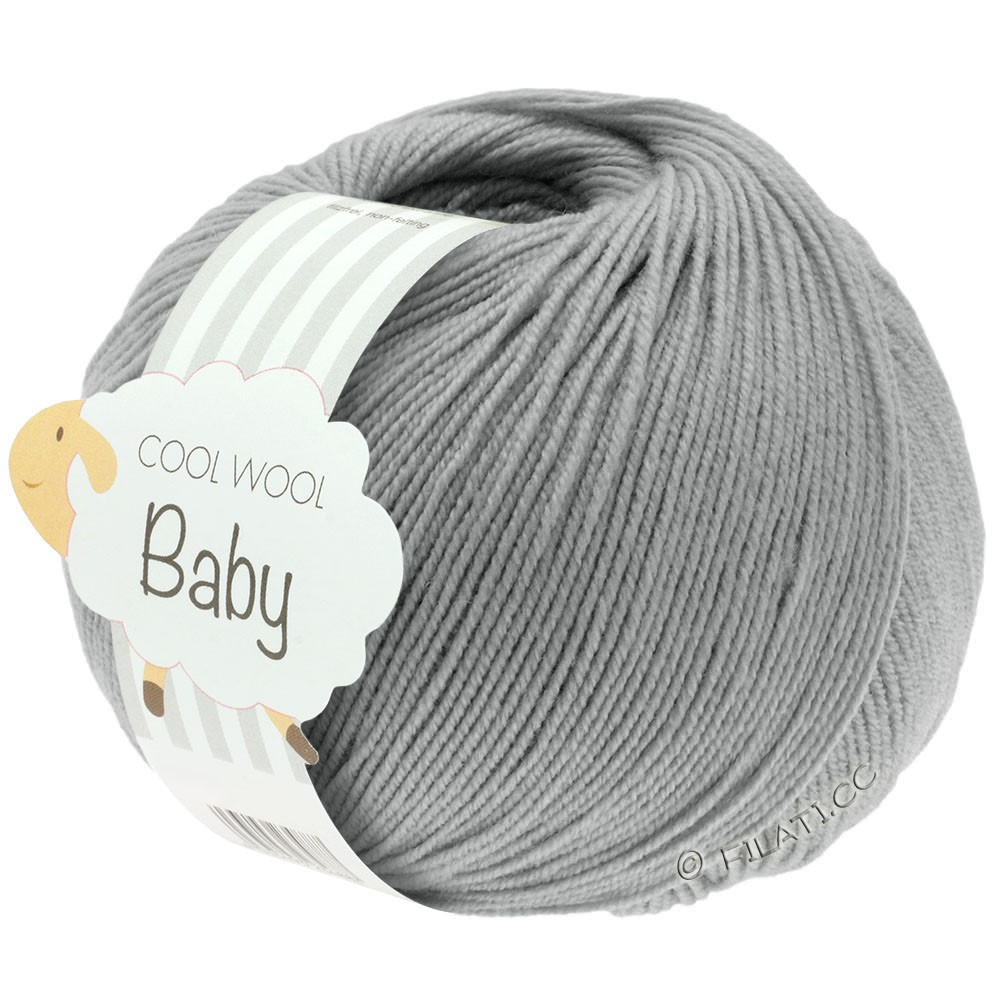 Lana Grossa COOL WOOL Baby Uni/Degradé | 241-светло-серый