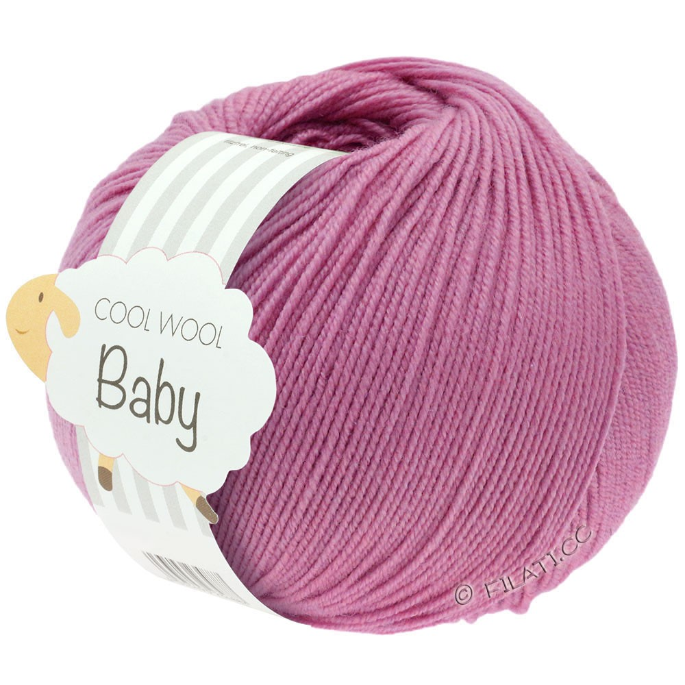 Lana Grossa COOL WOOL Baby Uni/Degradé | 242-вереск