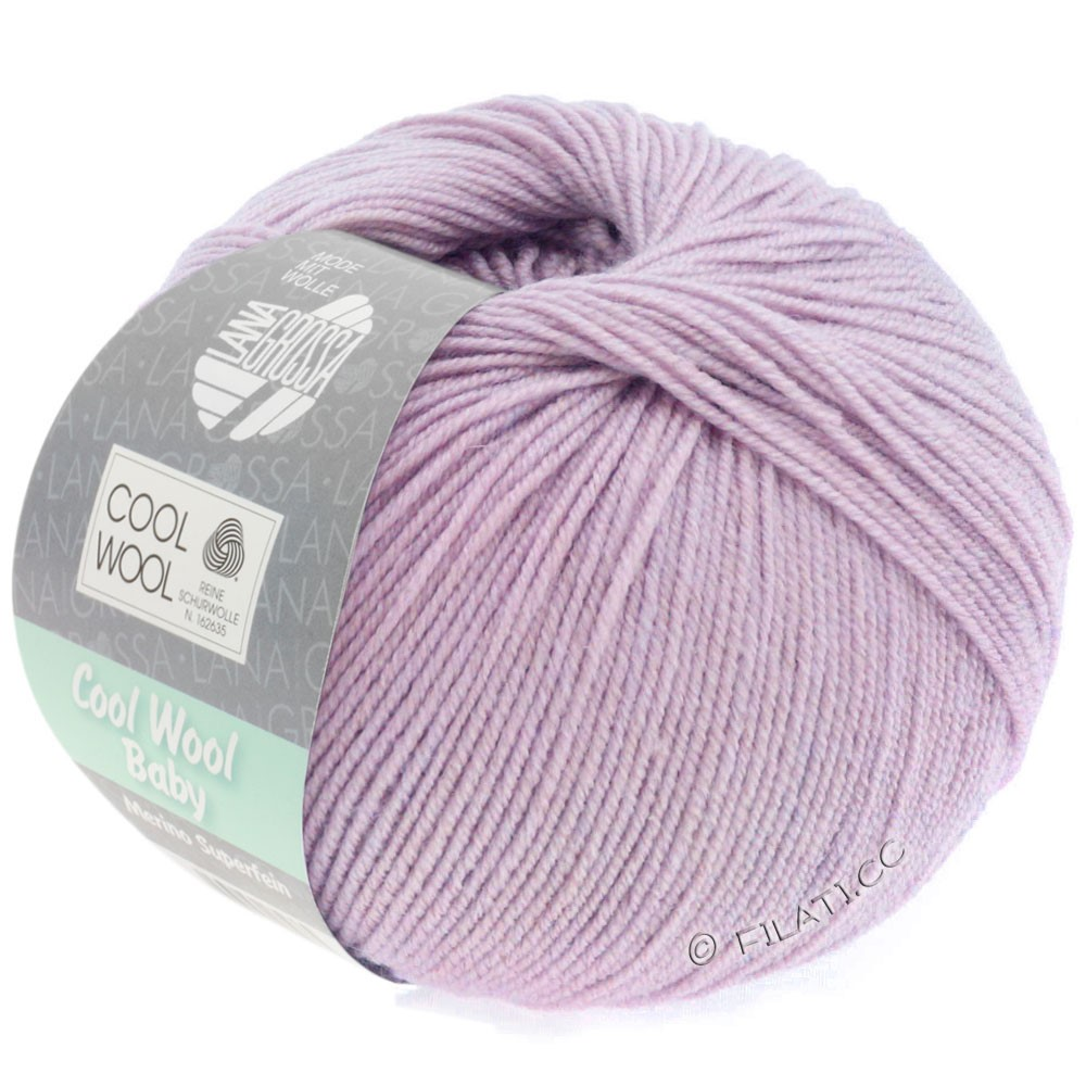 Lana Grossa COOL WOOL Baby Uni/Degradé | 258-мальва