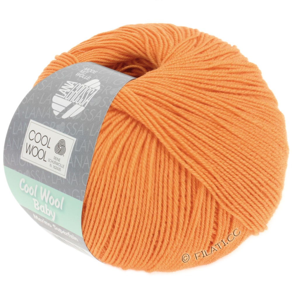 Lana Grossa COOL WOOL Baby Uni/Degradé | 260-светло-оранжевый
