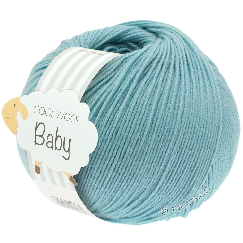 Lana Grossa COOL WOOL Baby Uni/Degradé | 261-мята